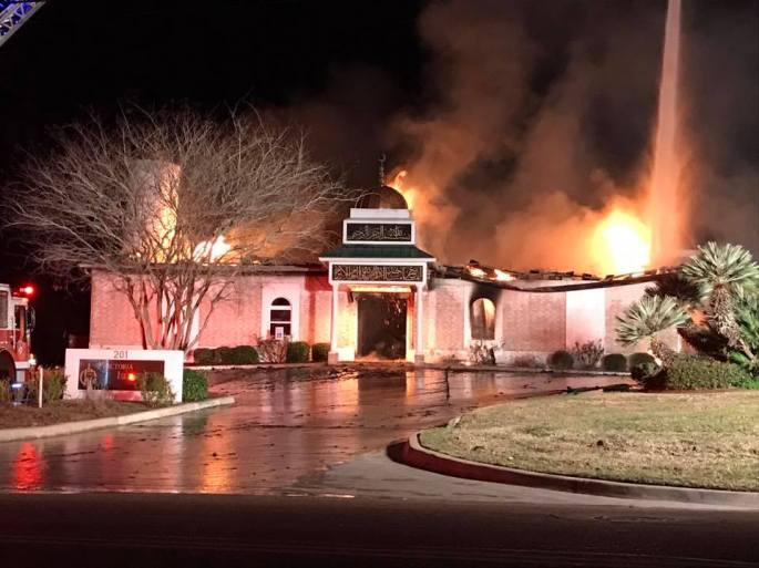 photos of mosque on fire II